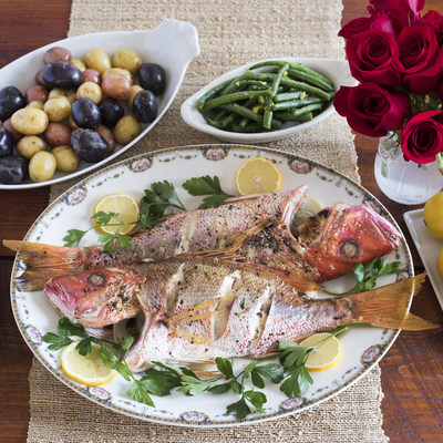 Roasted or grilled, American Red Snapper is a good, sustainable seafood choice. Be sure you are getting American Red Snapper by ordering from FultonFishMarket.com.