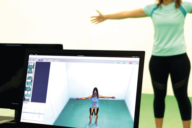 Anyone can step in front of the camera system, and DARI Motion Health will immediately map, collect and process their musculoskeletal data. Because of the predictive biomechanical algorithms at work, the technology platform works for people of all sizes, ages and strength levels.