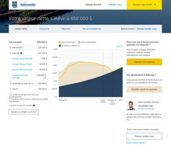Mon conseiller de RBC permettra aux clients de communiquer numériquement et en temps réel avec conseillers au moyen d'une plateforme en ligne. (Groupe CNW/RBC Banque Royale)