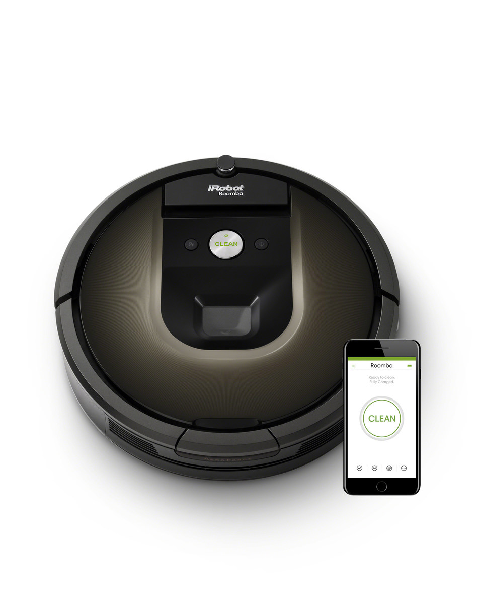 The iRobot Roomba(R) 980 vacuuming robot with iRobot HOME App.
