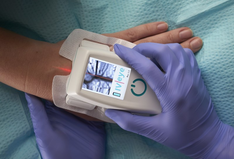 The IV-eye(R) near infrared vein finder assists doctors and nurses in the identification, assessment and preservation of peripheral blood vessels by providing a real-time, clear image of a patient's vascular structure.