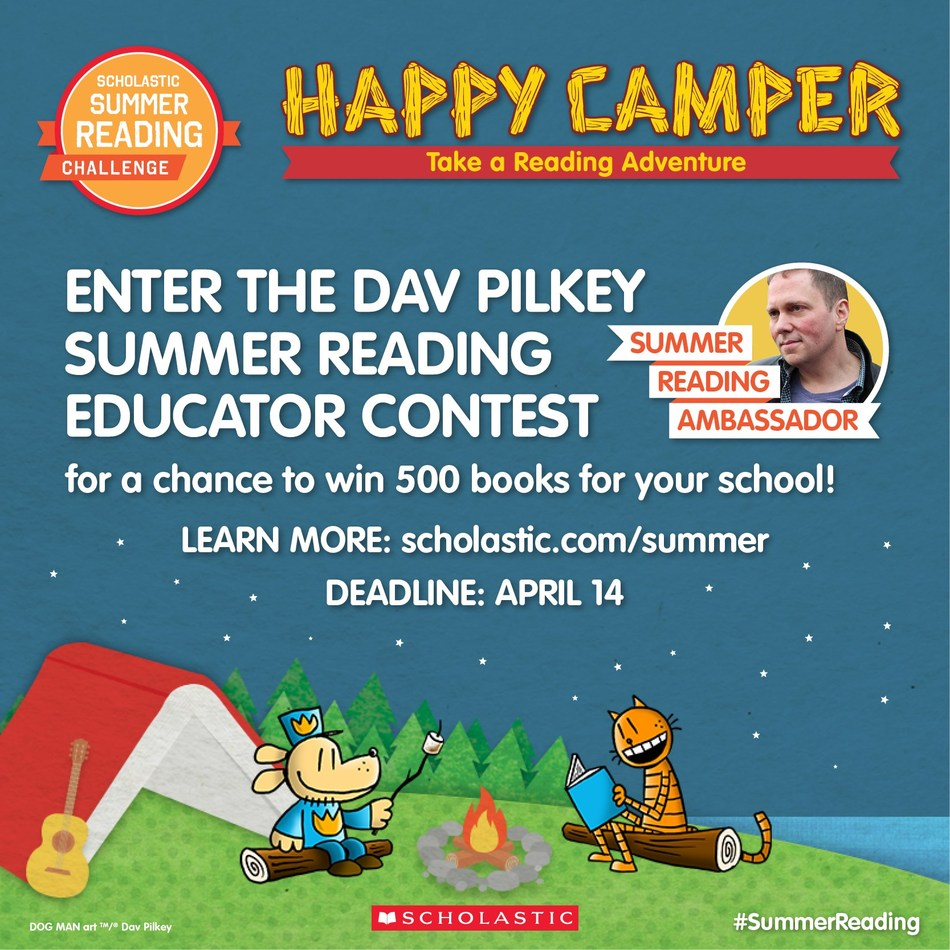 Enter the Dav Pilkey Educator Contest for a chance to win 500 books for your school!