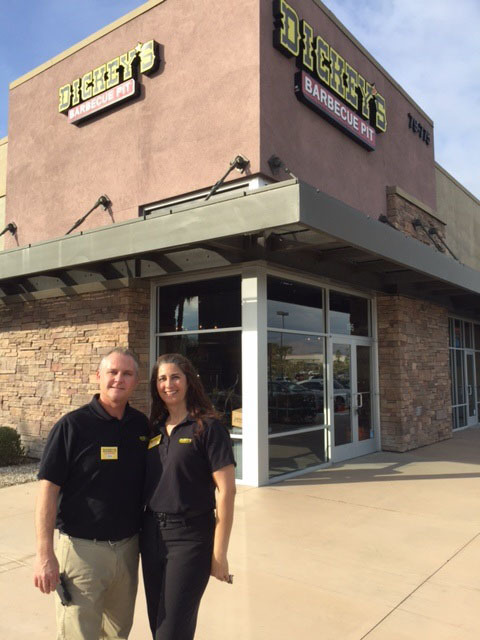 Michael and Margarita Tucker open Dickey's Barbecue Pit in Moreno Valley on Thursday