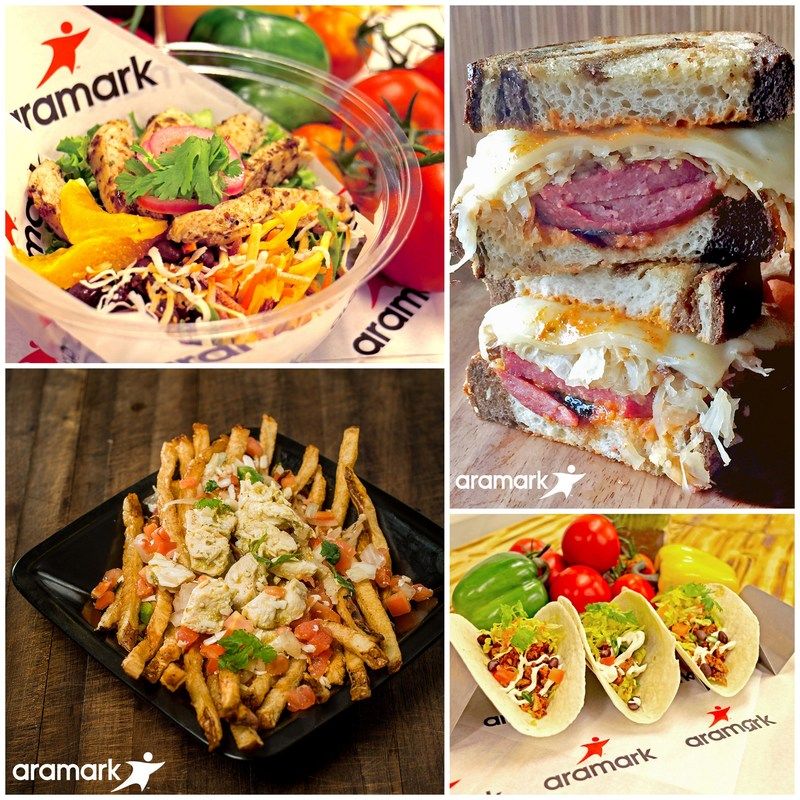 Aramark, the award-winning food and beverage, retail and/or facilities services partner at ten Major League Baseball stadiums, unveiled its roster of new menu items for the 2017 baseball season. From shareable loaded French fries and handmade sandwiches to street tacos and made-to-order house salads, Aramark continues to transform the ballpark food game.