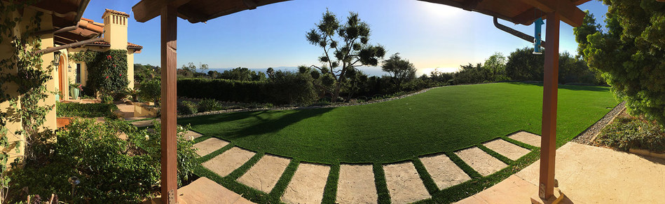 Artificial grass installation in Santa Barbara done by EcoLawn