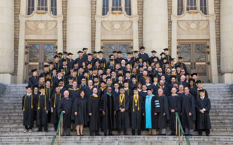 The Neumont University graduating class of 2017 and faculty pose for a group photo.