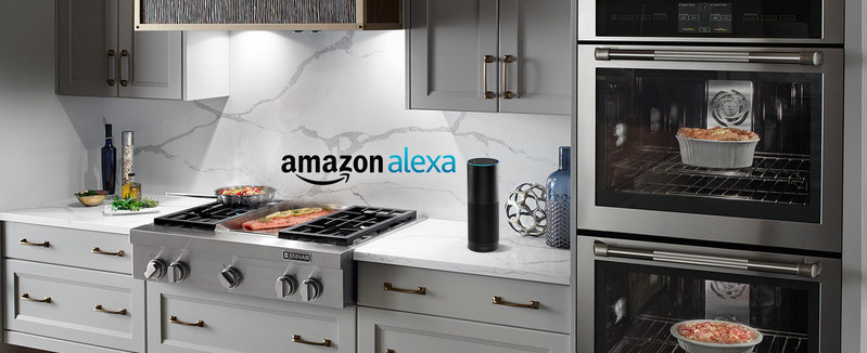 """Jenn-Air will introduce a significant addition to its connected wall ovens capabilities: voice control. Announced today at the Architectural Digest Design Show, the nation's premiere luxury design exhibition, the new user-friendly voice command feature will soon be available through Jenn-Air's """"Skill"""" for Amazon Alexa.Simple voice commands have been created for everything from preheating and setting timers to changing temperatures and cooking mode"""