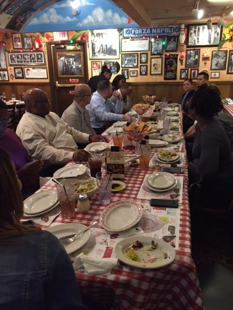 Wounded Warrior Project(R) (WWP) veterans recently gathered for dinner and discussed the civilian career world with members of WWP's Warriors to Work(R) program.