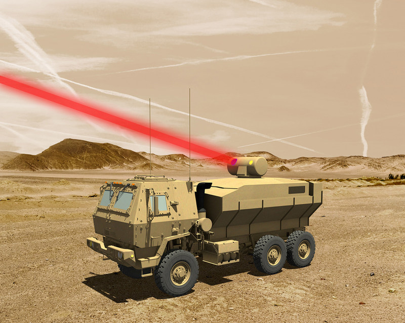 A rendering of a truck mounted 60 kW laser weapon system for tactical U.S. Army vehicles. Graphic: Lockheed Martin