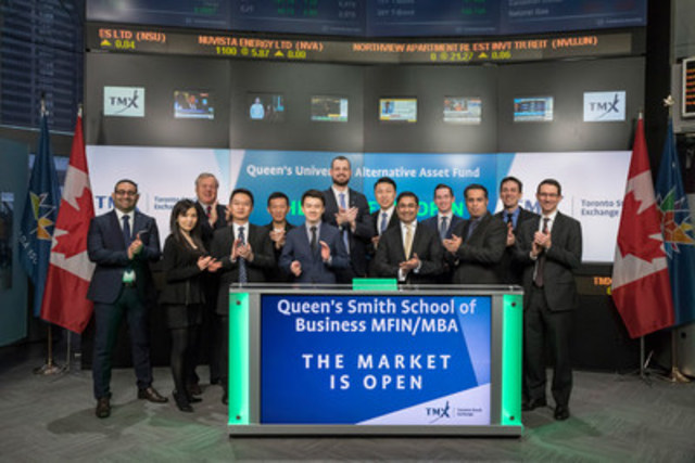 Peter Copestake, Board of Directors, Canadian Derivatives Clearing Corporation, Montreal Exchange and Chair, Queen's University Alternative Assets Fund (QUAAF) along with members of QUAAF will open the market. QUAAF is a student directed hedge fund managing a portion of Queen's University's endowment funds. The investment mandate is to generate returns that are uncorrelated with the Canadian equities market through investments in Canadian domiciled alternative strategy mandates. (CNW Group/TMX Group Limited)