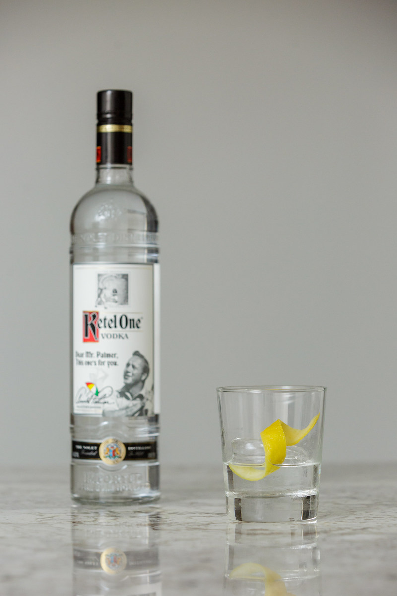 The Arnold Palmer Collector's Edition Bottle by Ketel One Vodka and Ketel One Vodka Arnie's Signature