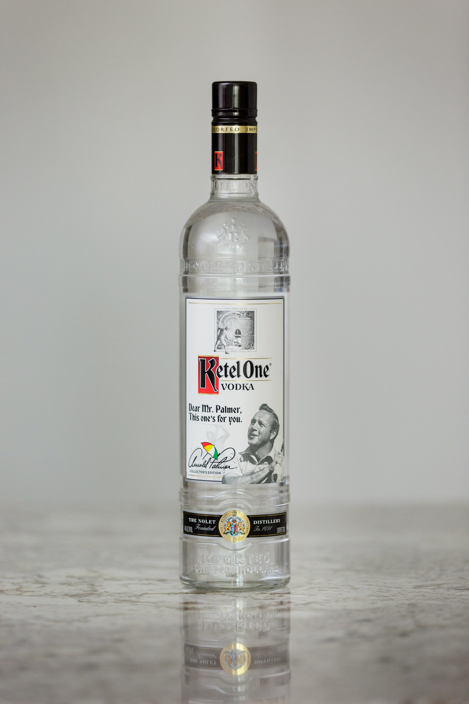 Arnold Palmer Collector's Edition bottle by Ketel One Vodka