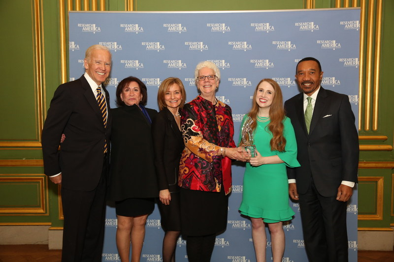 L to R: 47th Vice President of the United States, Joseph Biden; Lupus Foundation of America President & CEO, Sandra C. Raymond; LFA Medical Director, Dr. Susan Manzi; Pippy Rogers; Allie Gutshall; The Honorable Kweisi Mfume