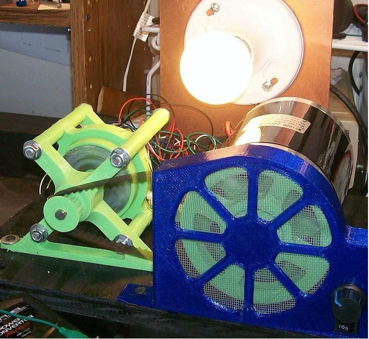 Generator Powering Light