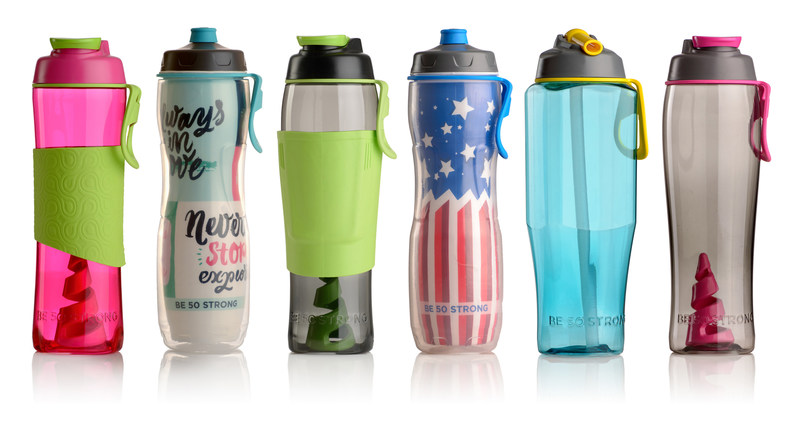 Simply Better Bottles, an innovative, stylish hydration line from 50 Strong.  Made in the USA!
