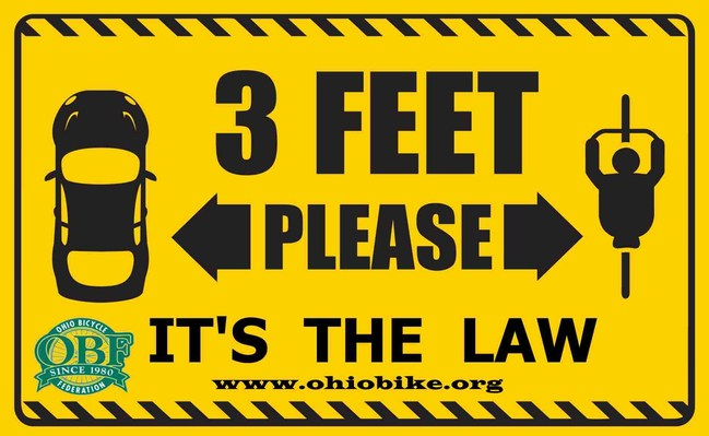 Join the OBF and take the pledge to give three feet when passing a bicyclist. Tell your friends how pledging to #give3feetOH can help make Ohio roads safer. The Ohio Bicycle Federation (OBF) is the statewide organization representing Ohio cyclists. Since 1980, this volunteer based, not- for-profit alliance of bicycling experts and bicycling groups has successfully: shepherded five pro-cycling measures through the Ohio legislature to signature by the governor.