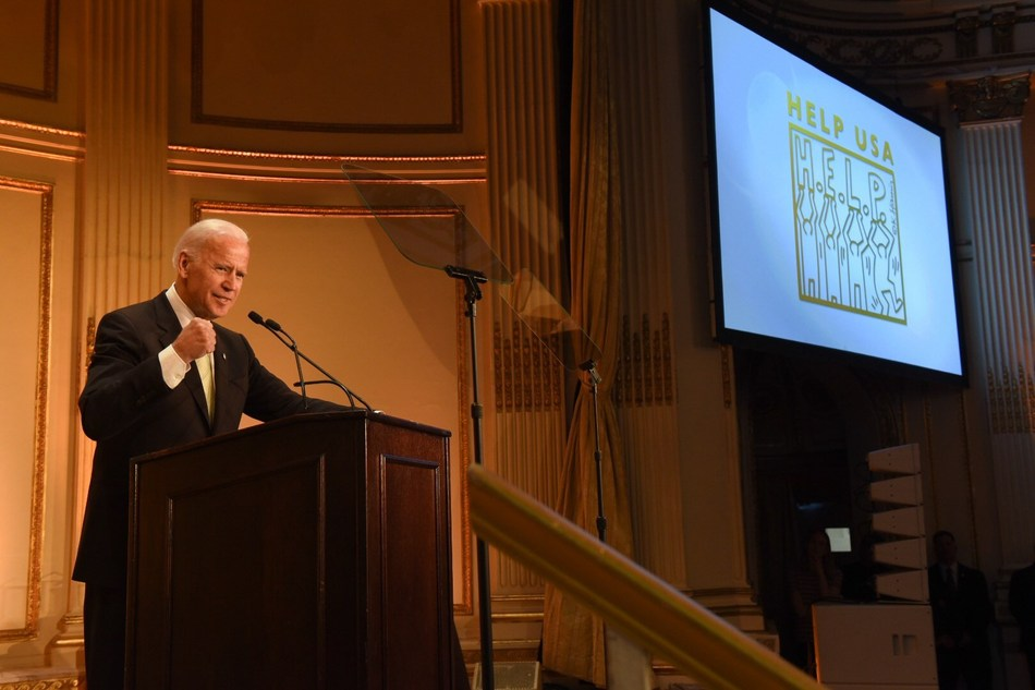 Joe Biden delivers remarks at HELP USA's 30th Anniversary Luncheon. Photo credit: Fred Pollard