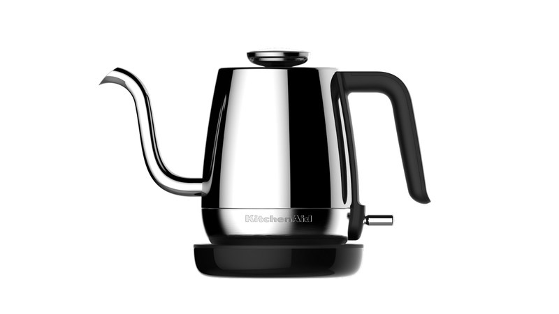 KitchenAid is expanding its popular portfolio of craft coffee appliances with the introduction of two new gooseneck spout Precision Kettles. Available in both electric and stovetop models, the new kettles offer precise and consistent pour control for a pour over coffee, tea or beverage of choice.