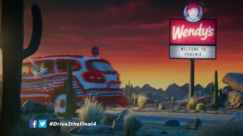 Wendy's, the Official Hamburger of the NCAA, is on the Road to the Final Four, road-tripping all the way to Phoenix to catch the best March Madness moments. Wendy's made a pit stop in Indianapolis during its Drive to the Final Four to tailgate the first and second rounds of the NCAA Men's Basketball Championship and serve a fresh, never frozen Final Four experience to loyal NCAA fans.