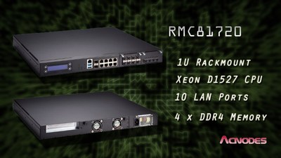 Acnodes' 1U Rackmount Computer Features Xeon processor D1527 and Supports Ten LAN Ports