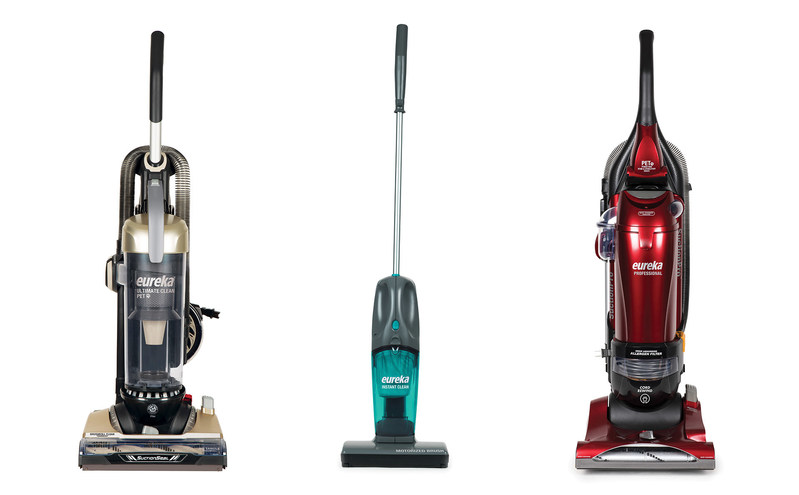 Eureka's Ultimate Clean Pet Max (AS3451A) (left), the Instant Clean (95A)(mid) and the Professional (AS1057A)(right) showed at IHHS 2017