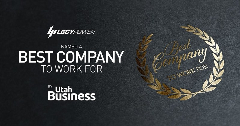 LGCY Power, the fastest growing solar company in the United States, was also named a best company to work for by Utah Business magazine.