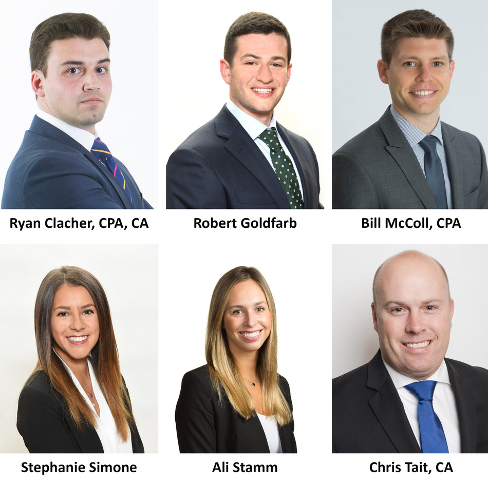 Siegfried Welcomes Six New Associate Directors to its National Market Leadership Team in the Northeast: Ryan Clacher, Robert Goldfarb, Bill McColl, Stephanie Simone, Ali Stamm, and Chris Tait