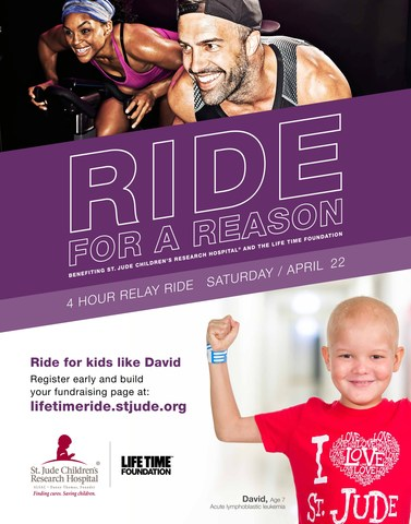 Ride for a Reason During Second Annual St. Jude Event at Life Time Destinations Nationwide on Saturday, April 22
