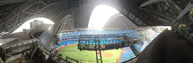 Rogers Centre roof panels during open/close process