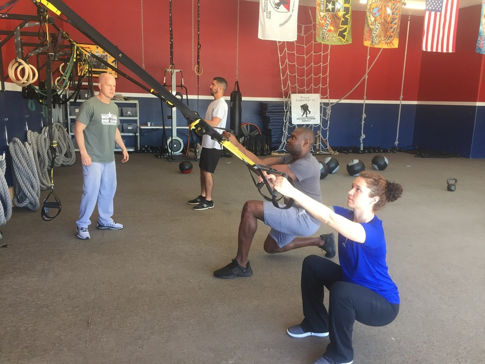 Wounded Warrior Project recently hosted a TRX training session for injured veterans in Arizona.