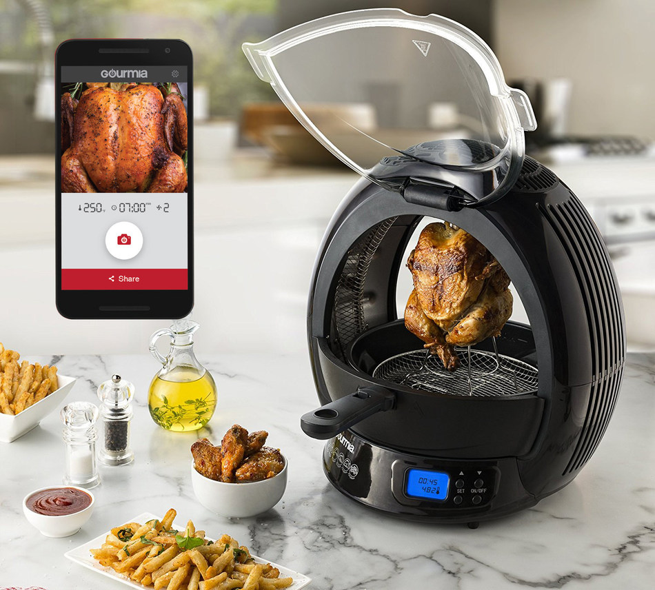 Using the latest IoT technology, including Alexa, Google Home and voice commands, the new Gourmia mobile kitchen app directly links enabled company products to the user's smartphone or tablet. Once linked, the cook and app can join forces in making the perfect smart kitchen, and meals!