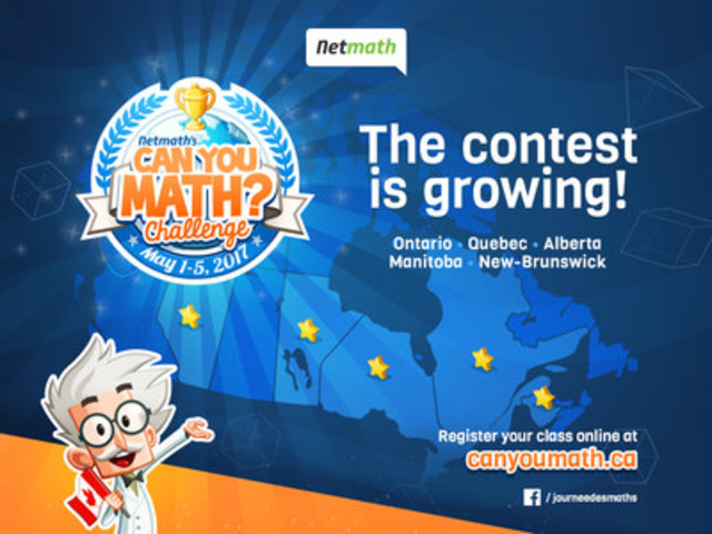 Nethmath's Can You Math Challenge is now available for English speaking students across Canada (CNW Group/Scolab Inc.)