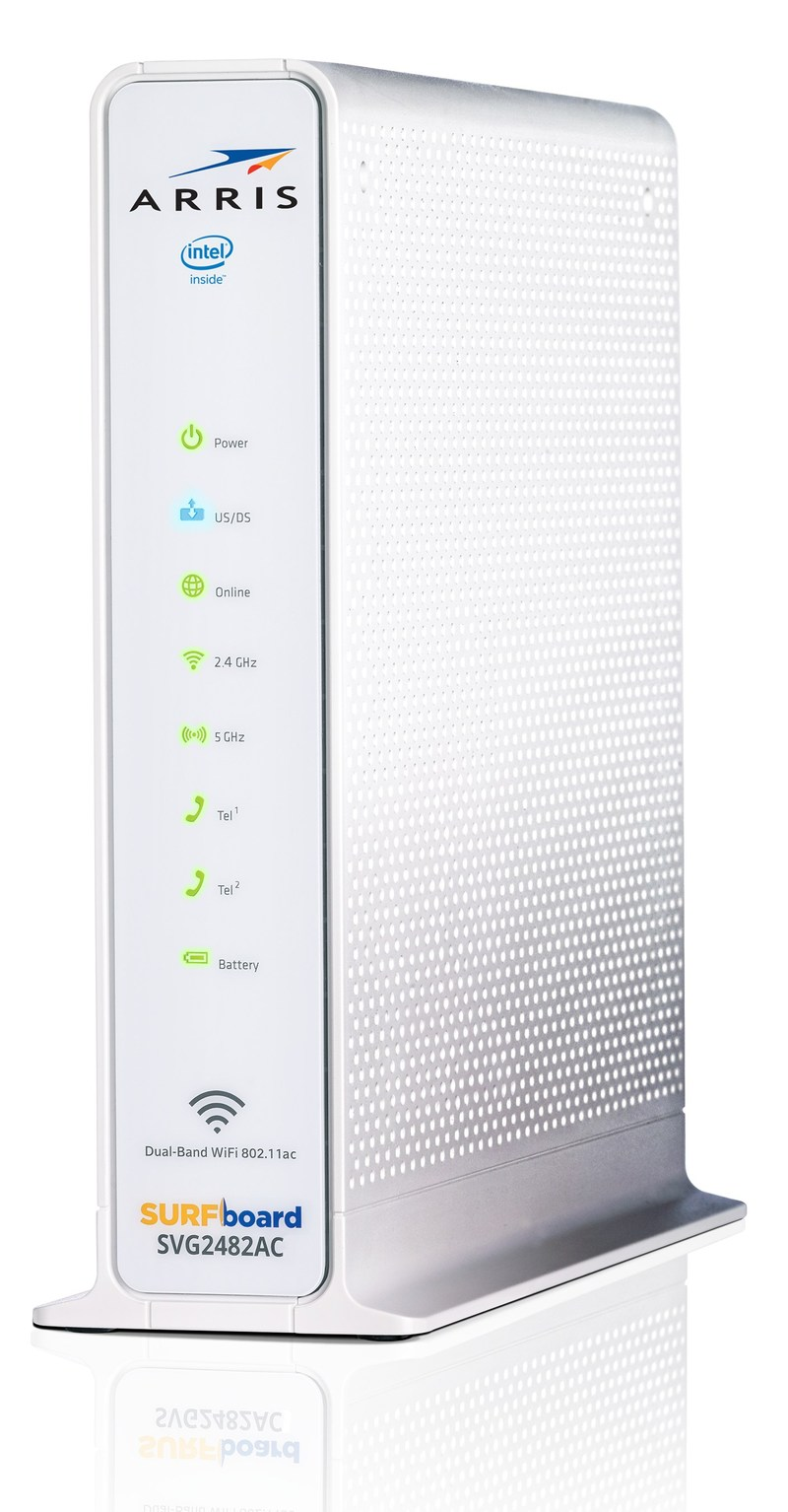 ARRIS SURFboard(R) SVG2482AC offers ultra-fast broadband, state-of-the-art Wi-Fi(R) and enhanced telephone functionality. The SURFboard(R) SVG2482AC becomes the first retail gateway with embedded RDK-B technology.