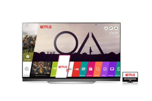 LG'S HDR-ENABLED UHD TV MODELS RECOMMENDED BY NETFLIX FOR SUPERIOR VIEWING EXPERIENCE (CNW Group/LG Electronics Canada)