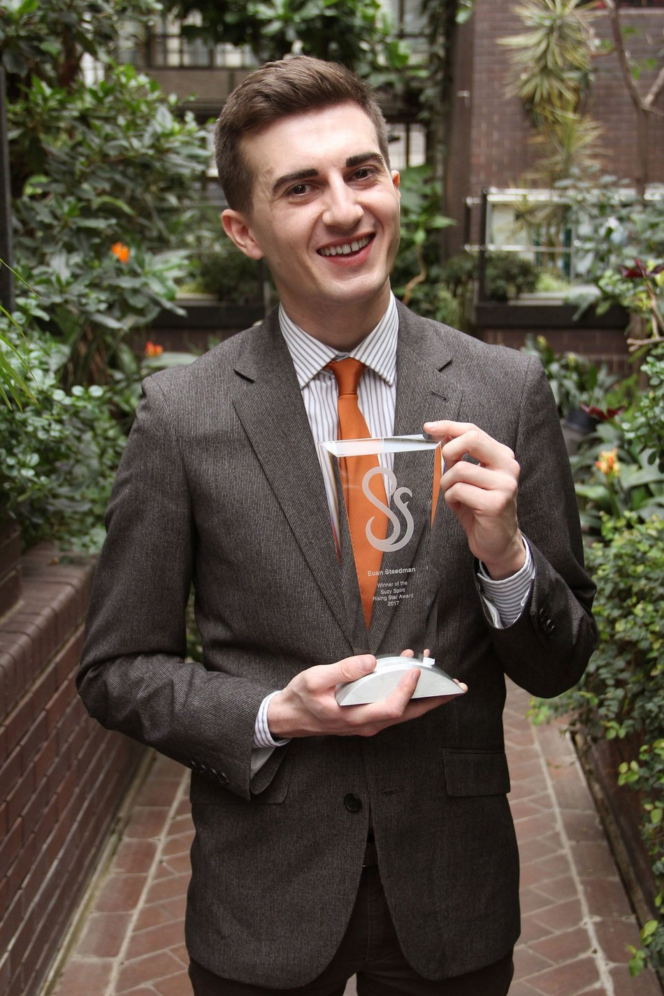 Euan Steedman - 2017 Suzy Spirit Rising Star winner (PRNewsFoto/Gorkana and LEWIS)
