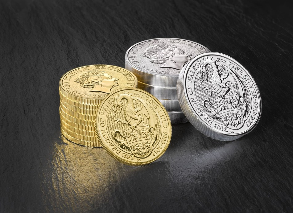 """Red Dragon of Wales"" from the Queen's Beast Series (PRNewsFoto/The Royal Mint)"