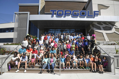 JACKSONVILLE, FL - MARCH 19: Juniors from The First Tee and LPGA Girls Golf pose for a portrait at Topgolf Junior PLAY on March 19 in Jacksonville. (Photo by Ryan Young/PGA TOUR)