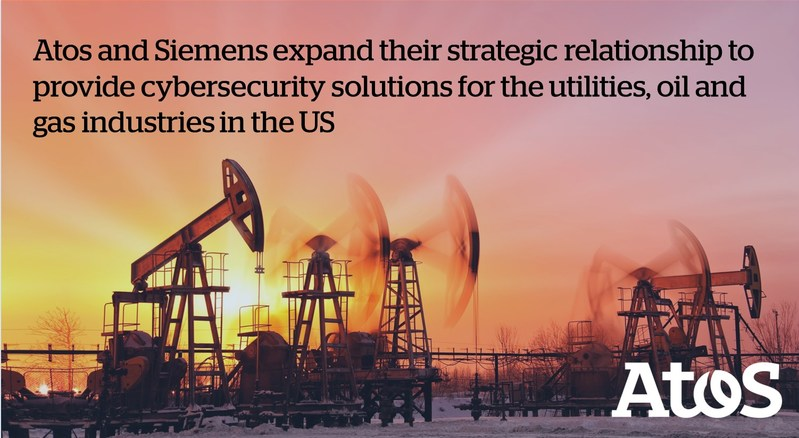 Atos and Siemens expand their strategic relationship to provide cybersecurity solutions for the utilities, oil and gas industries in the US