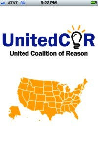 United Coalition of Reason's Secular Community App Opening Page