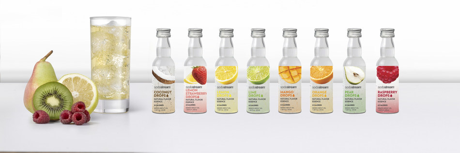 Sodastream Introduces Fruit Drops Naturally Flavored