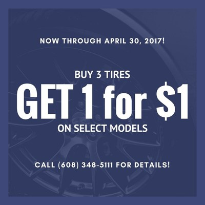 Stop into Ubersox for new tires on select models!