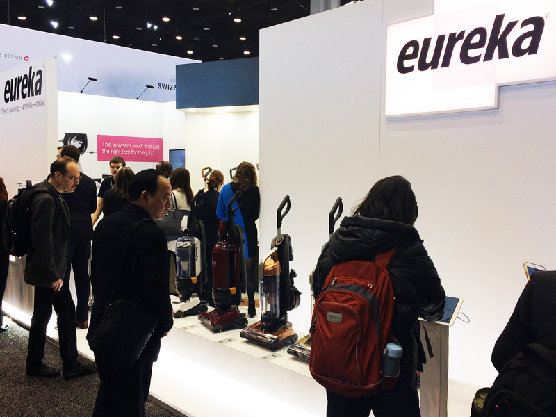 Eureka's new vacuum cleaners have wowed attendees at IHHS 2017.