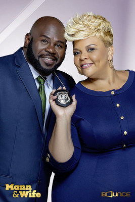 David Mann, Tamela Mann and company bring a new assortment of hysterical family situations and laughs in the third season of their hit Bounce comedy series Mann & Wife.  Bounce will double the fun by kicking off season three with two new original episodes back-to-back 9:00-10:00 pm (ET) on Tuesday, March 28. All-new Mann & Wife episodes will continue to premiere Tuesday nights at 9:00 pm (ET) through the spring on Bounce.