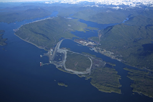 Port of Prince Rupert's Ridley Island, future site of the Ray-Mont Logistics container loading facility. (CNW Group/Prince Rupert Port Authority)