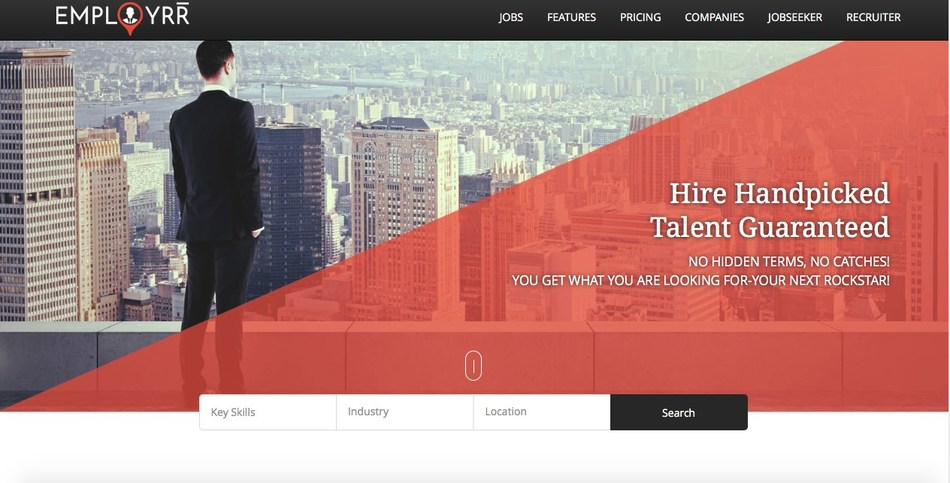 Employrr Landing page