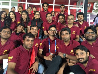 Ranjan with his team at Intelliber Technologies