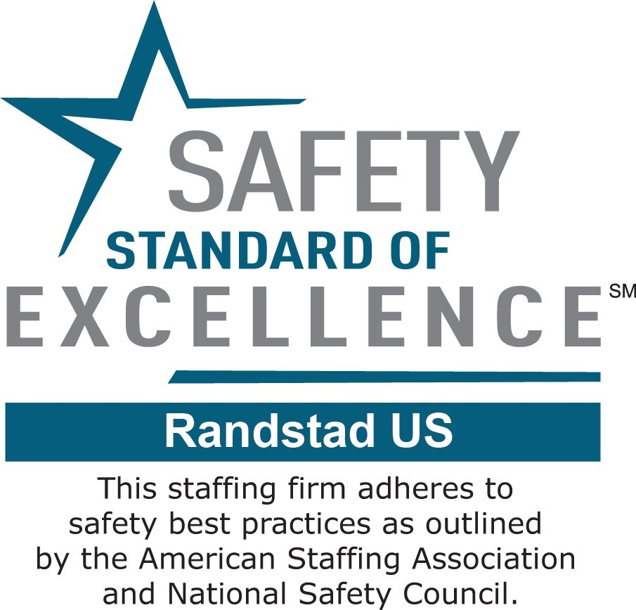 Randstad earns the Safety Standard of Excellence Mark