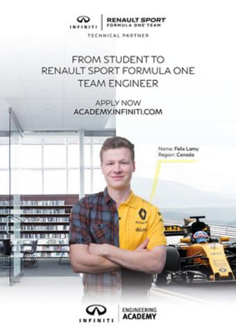 Les demandes sont acceptées à compter d'aujourd'hui pour l'édition 2017 de l'INFINITI Engineering Academy - la quête d'INFINITI en vue de trouver les talents les plus brillants et les plus prometteurs à l'échelle mondiale dans le domaine de l'ingénierie. (Groupe CNW/Infiniti)