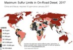 7 Countries Move Up in Top 100 Ranking for Diesel Sulfur Limits