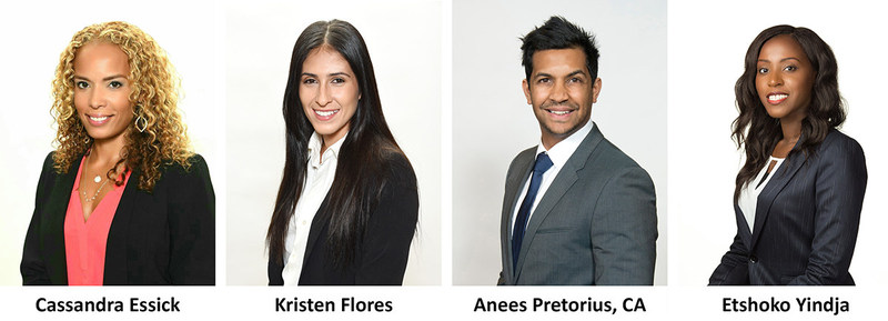 Siegfried Welcomes Four New Associate Directors to its National Market Leadership Team in the West: Cassandra Essick, Kristen Flores, Anees Pretorius, and Etshoko Yindja